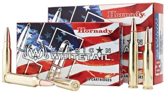 Picture of Hornady American Whitetail Rifle Ammo - 243 Win, 100Gr, InterLock SP American Whitetail, 20rds Box
