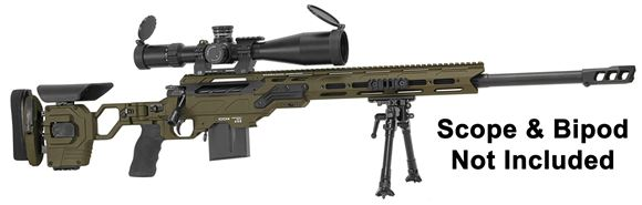"Picture of Cadex Defense CDX-33 Patriot Rifle - 338 Lapua, 27"", 1-11.25"" Twist, Hybrid Sniper Grey/Black, DX2 Double Stage Trigger, 5rds, 20MOA Rail, MX1 Muzzle Brake, Skeleton Buttstock"