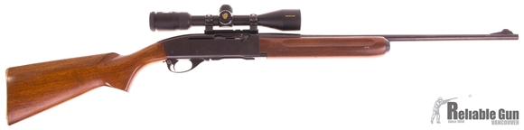 Picture of Used Remington 740 30-06 Sprg Semi Auto Rifle, 1 Mag, Nikon Prostaff 3-9x40mm Scope, Blued, Wood Stock, Good Condition
