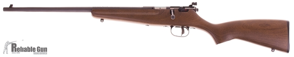 "Picture of Used Savage Rascal Single Shot Bolt Action Rifle, Left Hand - 22 S/L/LR, 16.125"", Satin Blued, Hardwood Stock, Adjustable Peep Sights, AccuTrigger, Excellent Condition"