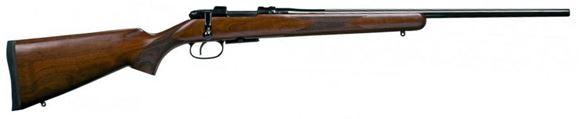"Picture of CZ 527 American Bolt Action Rifle, 223 Rem, 21.9"", Blued, Walnut, 5rds, Adjustable Single Set Trigger, No Sight"