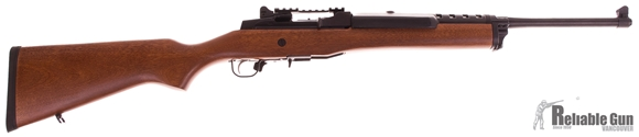 Picture of Used Ruger Mini 14 Semi-Auto 5.56/.223, Wood/Blued, With Picatinny Rail & Ruger Scope Rings, 2 Mags, Excellent Condition