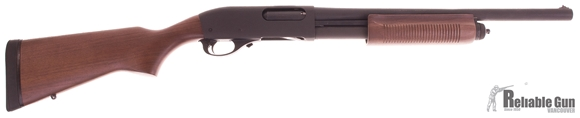 "Picture of Used Remington 870 Police Pump-Action 12ga, 3"" Chamber, 18.5"" Barrel, Parkerized, Wood Stock, Unfired, Very Good Condition"