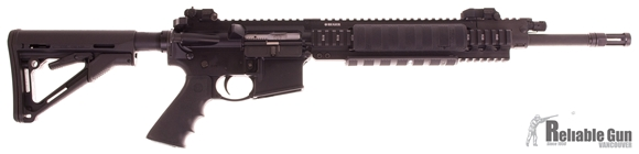 """Picture of Used Ruger SR-556FB Semi-Auto 5.56, 16"""" Barrel, Gas Piston, Quad Rails, Samson Flip Up Battle Sights, Raptor Charging Handle, With 4 Mags & Soft Case, Excellent Condition"""