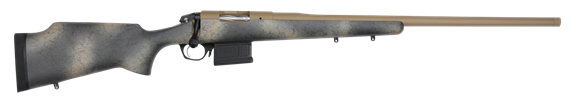 "Picture of Bergara Premier Approach Bolt Action Rifle - 6.5 Creedmoor, 24"", 5/8""x24 Threaded, Brown Cerakote, Fiberglass Stock, Includes Soft Case"