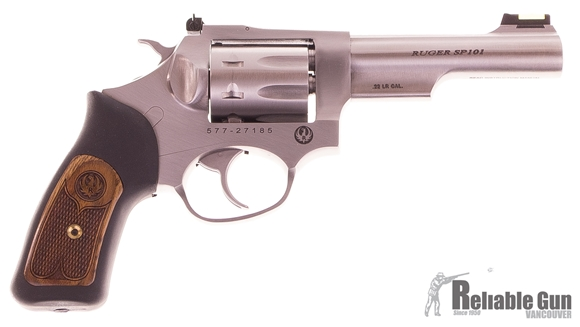 "Picture of Used Ruger SP-101 Double-Action 22 LR, 4.25"" Barrel, Stainless, With Original Box, Excellent Condition"