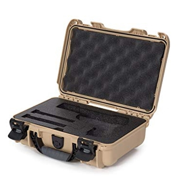 "Picture of Nanuk Professional Protective Cases - Classic Single Pistol Case, Pre-cut Foam, Waterproof & Impact Resistant, 12.64"" x 9"" x 4.38"", Tan"