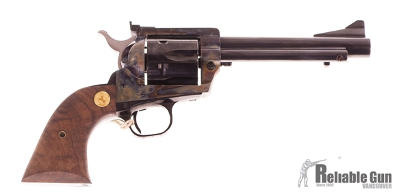 "Picture of Used Colt 1873 SAA Single-Action 45 Colt, 5.5"" Barrel, Case Hardened Receiver, Adjustable Sights, As New Condition In Original Box"