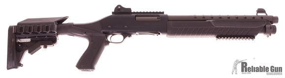"""Picture of Used Fabarm SDASS Martial Pump-Action 12ga, 3"""" Chamber, 14"""" Barrel, Collapsing Stock, Fiber Optic Ghost Ring Sights, Very Good Condition"""