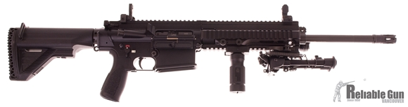 """Picture of Used HK MR308 Semi-Auto 308 Win, 16"""" Barrel, GG&G Sights, Bipod, Foregrip, & Flashlight, No Mag, Excellent Condition"""