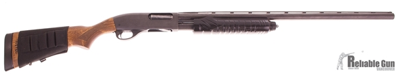 "Picture of Used Remington 870 Express Pump-Action 12ga, 3"" Chamber, 28"" Barrel (F,M), Sling, Shell Box, & Soft Case, Painted Forend, Good Condition"