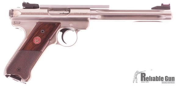 "Picture of Used Ruger Mk III Hunter Semi-Auto 22 LR, 7"", Stainless, With One Mag & Scope Base, Excellent Condition"