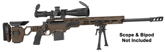 "Picture of Cadex Defense CDX-30 GUARDIAN Rifle - 6.5 Creedmoor, 26"", 1-8"" Twist, Hybrid Shadow Stealth, DX2 Trigger, Oversized Cross Hatch Bolt Knob, 10rds, Skeleton Buttstock, 20 MOA Rail, With MX1 Muzzle Brake"