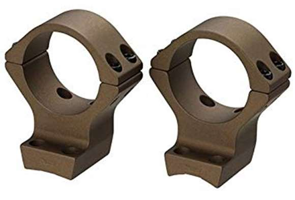 "Picture of Browning Scope Rings & Bases, Integrated Scope Mount System - X-Bolt, 1"", Standard, Burnt Bronze Cerakote"