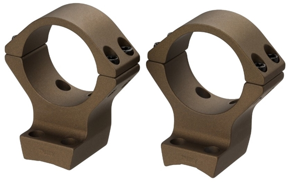 Picture of Browning Scope Rings & Bases, Integrated Scope Mount System - X-Bolt, 30mm, Standard, Burnt Bronze Cerakote