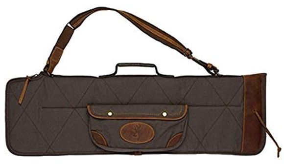 "Picture of Browning Gun Cases, Flexible Gun Cases - Lona O/U Takedown Shotgun Case, 33"", Flint/Brown, Heavy Duty Canvas, Leather Trim & Handle"