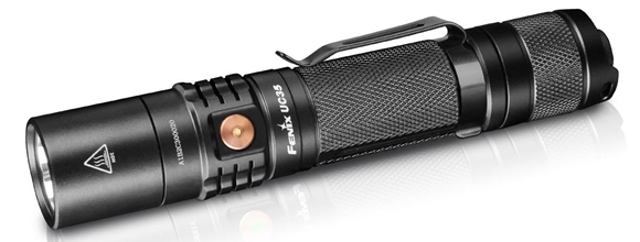 Picture of Fenix Flashlight, UC Series - UC35, Cree XM-L2 (U2), 1000 Lumen, USB Charging/2xCR123A/1x18650, Black, 89g