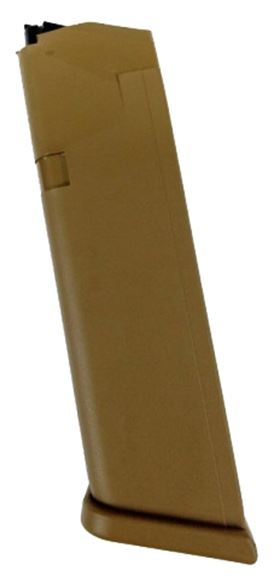 Picture of Glock Pistol Magazine - 9mm, Factory 10rds, Bulk, FDE, For G17/34/19x