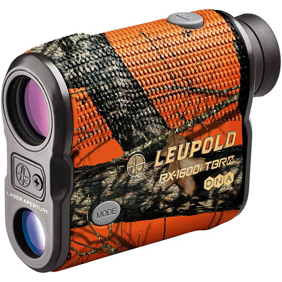 Picture of Leupold Optics - RX-1600i TBR/W with DNA Laser Rangefinder, 6x, 1600 Yards, CR2, Mossy Oak Blaze Orange, Selectable Reticles