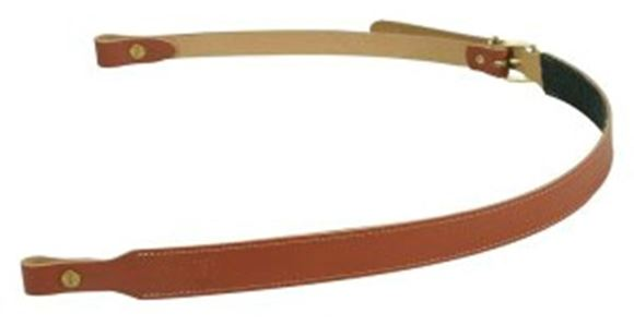 """Picture of Levy's Hunting European Size Rifle Slings - 1"""" Veg-Tan Leather Rifle Sling with Green Felt Backing and Buckle Adjustment, Fit 3/4"""" Swivels, Adjustable from 33"""" to 37"""", Walnut"""