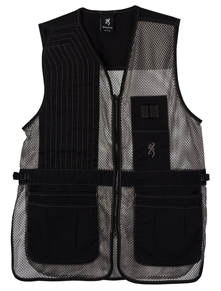 Picture of Browning Outdoor Clothing, Shooting Vests - Trapper Creek Mesh Shooting Vest, Black/Grey, Large