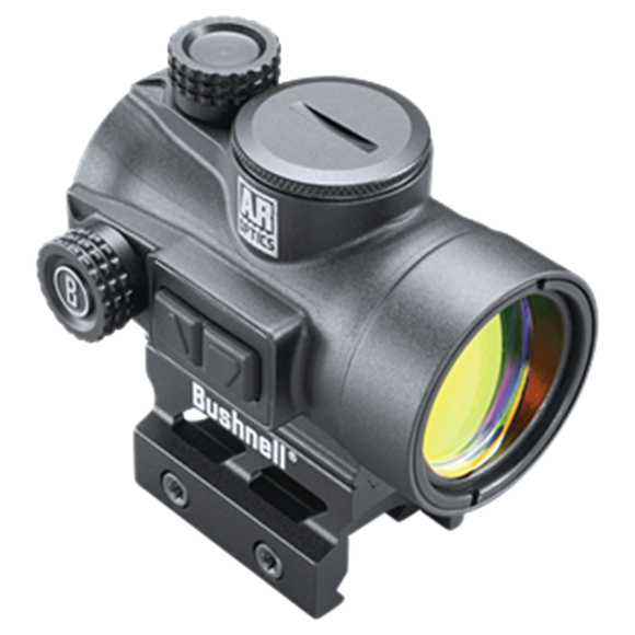 Picture of Bushnell AR Optics Red Dots - TRS-26, 1x26mm, Matte, 3 MOA Red Dot, 1/2 MOA Click Value, Multi-Coated, Waterproof/Fogproof/Shockproof, Industry Standard Mount, AR Height, CR2032