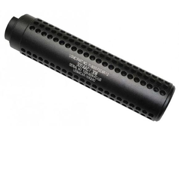 Picture of Guntec USA Mock Suppressor - AR-10 Reverse Thread Slip Over Flush Mount Shroud, 5/8x24 Thread, Matte Black