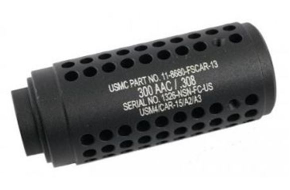 Picture of Guntec USA Mock Suppressor - AR-15 Gen 2 Micro Reverse Thread Slip Over Flush Mount Shroud, 1/2x28 Thread, Matte Black