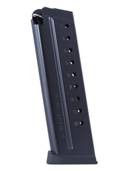 Picture of Mec-Gar Pistol Magazines - 1911, 9mm, 10rds, Extended, Blued