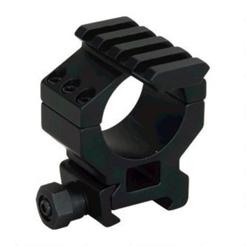 Picture of Millett Tactical Hardware, Tactical Rings w/Accessory Rail - 30mm, High, Matte