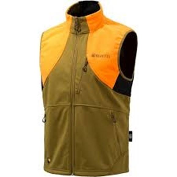Picture of Beretta Men's Clothing, Vests - Beretta Soft Shell Fleece Vest, Adult, Light Brown/Orange, XL