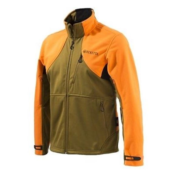 Picture of Beretta Men's Clothing, Jackets - Beretta Soft Shell Fleece Jacket, Adult, Light Brown/Orange, XL