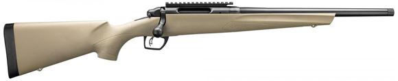 "Picture of Remington Model 783 HBT Bolt Action Rifle - 6.5 Creedmoor, 16.5"", Matte Black, Heavy Threaded Barrel, FDE Synthetic Stock, 4rds, CrossFire Adjustable Trigger, Pillar-Bedded, SuperCell Recoil Pad, With Picatinny Rail"