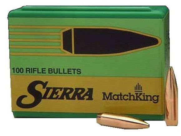 "Picture of Sierra Rifle Bullets, MatchKing - 6.5mm Caliber (.264""), 142Gr, HPBT, 100ct Box"