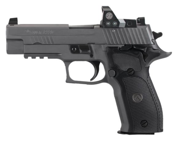 "Picture of SIG SAUER P226 SAO RX Legion Single Action Semi-Auto Pistol - 9mm, 4.4"", Legion Gray PVD Finish Stainless Steel Slide & Alloy Frame, Custom G-10 Grips, 3x10rds, X-Ray Day/Night Sights, Rail, Master Shop Flat Trigger, With ROMEO 1 Micro Reflex Sight"