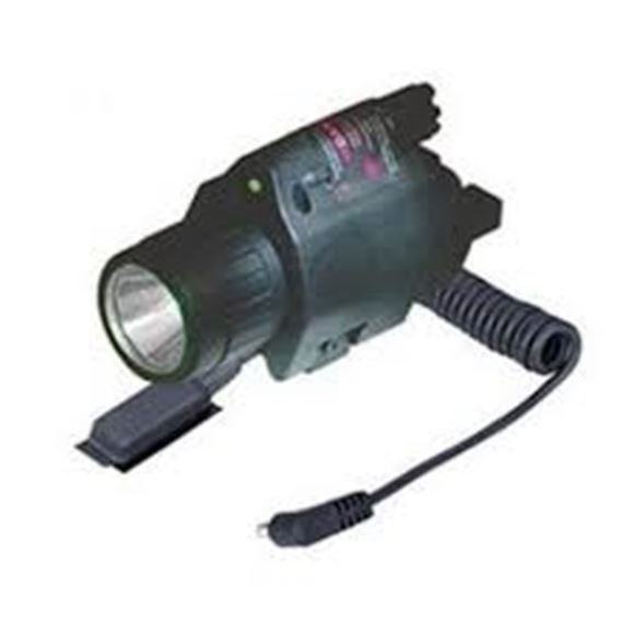 Picture of Sun Optics USA Lasers, Illuminated Laser Sights - 3w 250 Lumens LED Light, 5mw Green Laser, With Remote Switch, Uses 2xCR123A