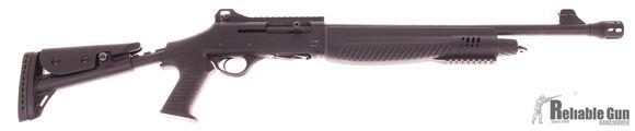 "Picture of Used Hatsan Optima Escort MPA-TS Semi-Auto Shotgun - 12Ga, 3"", 20"", Barrel With Flash Supressor, Alloy Black Receiver w/Picatinny Rail, Telescopic Stock w/Pistol Grip, 5rds, Ghost Ring Sights Excellent Condition"