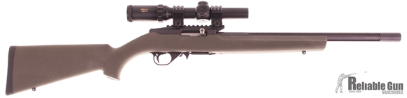 """Picture of Used Dlask DAR22 Semi-Auto 22 LR, 16"""" Heavy Fluted Barrel, With Millett DMS-11-4x24mm, Hogue Stock, Kidd Single Stage Trigger, Muzzlebrake, No Mag, Very Good Condition"""