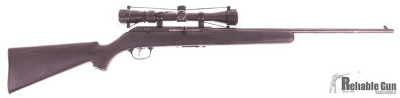 Picture of Used Savage 64F Semi-Auto 22 LR, With Tasco 3-9x32mm Scope, 5 Mags, Fair Condition