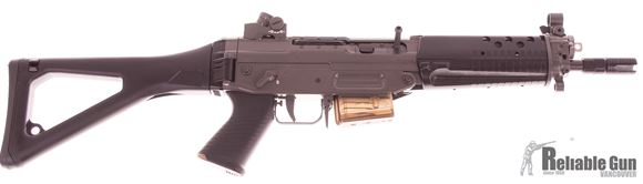"Picture of Used Swiss Arms Classic Green CQB Semi-Auto 5.56, 9"" Barrel, Diopter Sight, Two 5rd Mags, Very Good Condition"