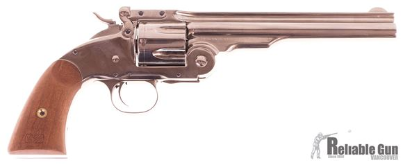 """Picture of Used Taylor's & Co. Uberti 1875 No3 Schofield Single-Action 45 Colt, 7"""" Barrel, Nickel Plated, Top Break, Excellent Condition, Never Fired"""