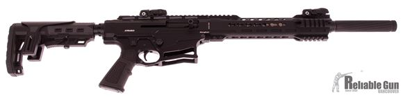 "Picture of Armed Stryker Vertical Magazine Semi-Auto Shotgun - 12Ga, 3"", 20"", Black, Synthetic Stock, 3x5rds, AR Flip Up Sights, Barrel Shroud, Hard Case"