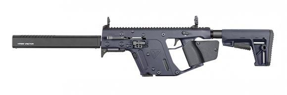 "Picture of KRISS Vector Gen II CRB Enhanced Semi-Auto Carbine - 45Auto, 18.6"", w/Square Enhanced Black Shroud, Cerakote Combat Grey, M4 Stock Adaptor w/Defiance M4 Stock, 10rds, Flip Up Front & Rear Sights"