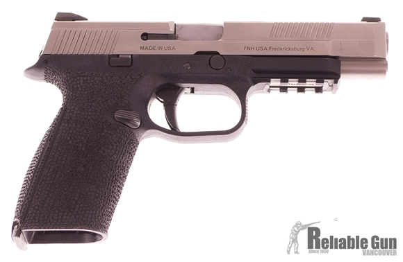 """Picture of Used FNH FNS-40 Semi-Auto 40 S&W, 5"""" Barrel, Two-tone, With 3 Mags, Custom Stippled Frame, Good Condition"""