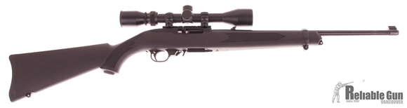 """Picture of Used Ruger 10/22 Semi-Auto 22 LR, 18"""", Synthetic, With Weaver 3-9x40mm Scope, One Mag & Hard Case, Excellent Condition"""