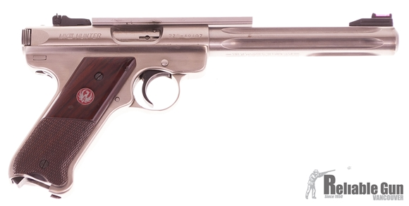 "Picture of Used Ruger Mark III Hunter Semi-Auto 22 LR, 7"", Stainless, With 2 Mags & Original Case, Good Condition"