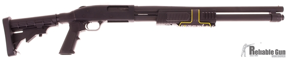 "Picture of Used Mossberg 590 Flex Pump-Action 12ga, 3"" Chamber, 20"" Barrel, 9 Shot, Telescoping Stock, With Original Box, As New Condition"