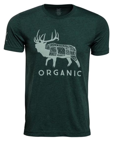 Picture of Vortex Optics Accessories - Organic Elk T-Shirt, Forest Green, Large