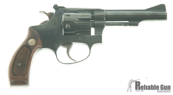 Picture of Used Smith & Wesson Model 34-1 Revolver, .22 Lr, 6- Shot, Blued, Wood Grip, Holster, Good Condition