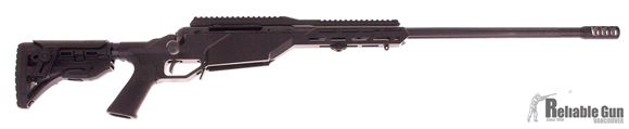 "Picture of Used Savage Arms Model 10 BA Stealth Bolt Action Rifle - 300 Win, 24"", 1/10RH, Fluted Carbon Steel, Matte Black, M-Lok Monolithic Aluminum Chassis, Fab Defense GLR-16 Stock w/ Adjustable Cheek Piece, 10rds, 5/8x24 Thread, AccuTrigger"